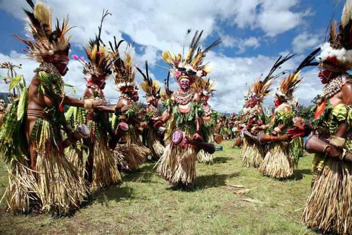 Festival do Monte Hagen em Papua-Nova Guiné