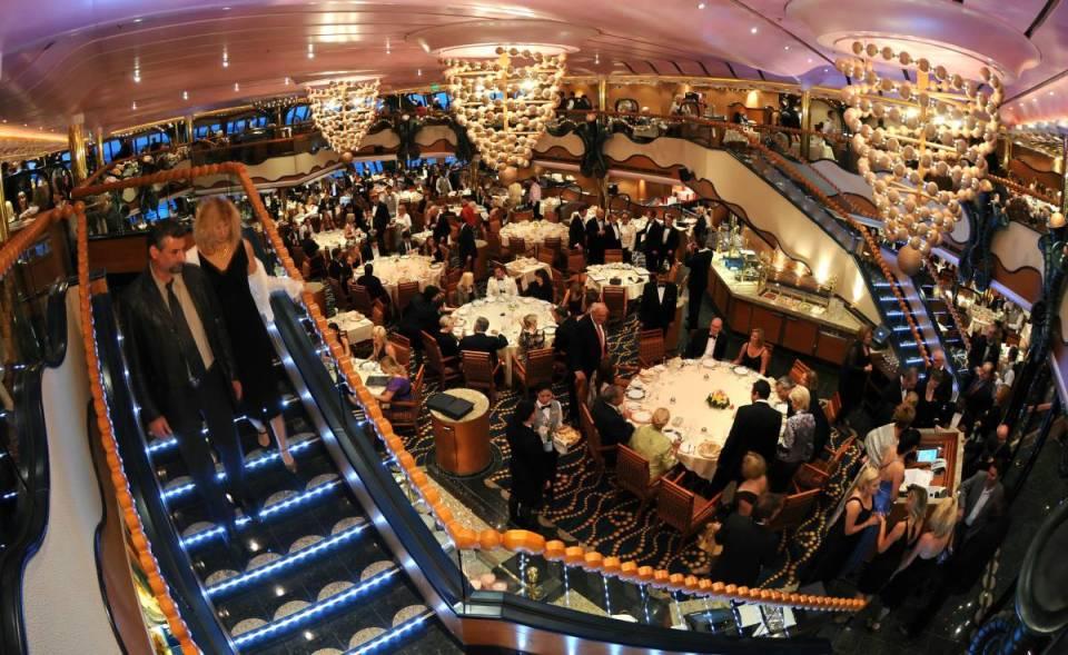 Restaurante em navio de cruzeiro