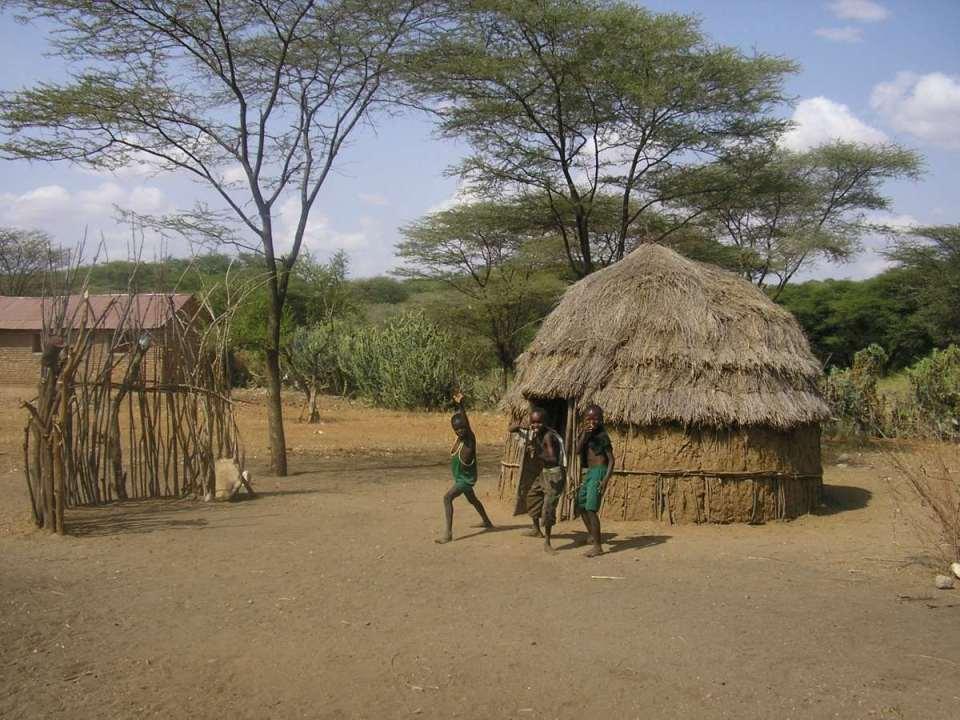 Aldeia tradicional na Nigéria