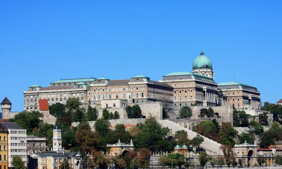 Castelo no distrito de Buda - Budapeste