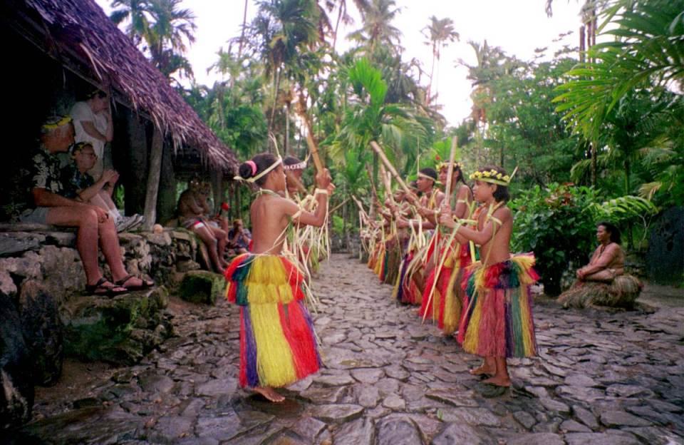 Cerimómia em Yap Island