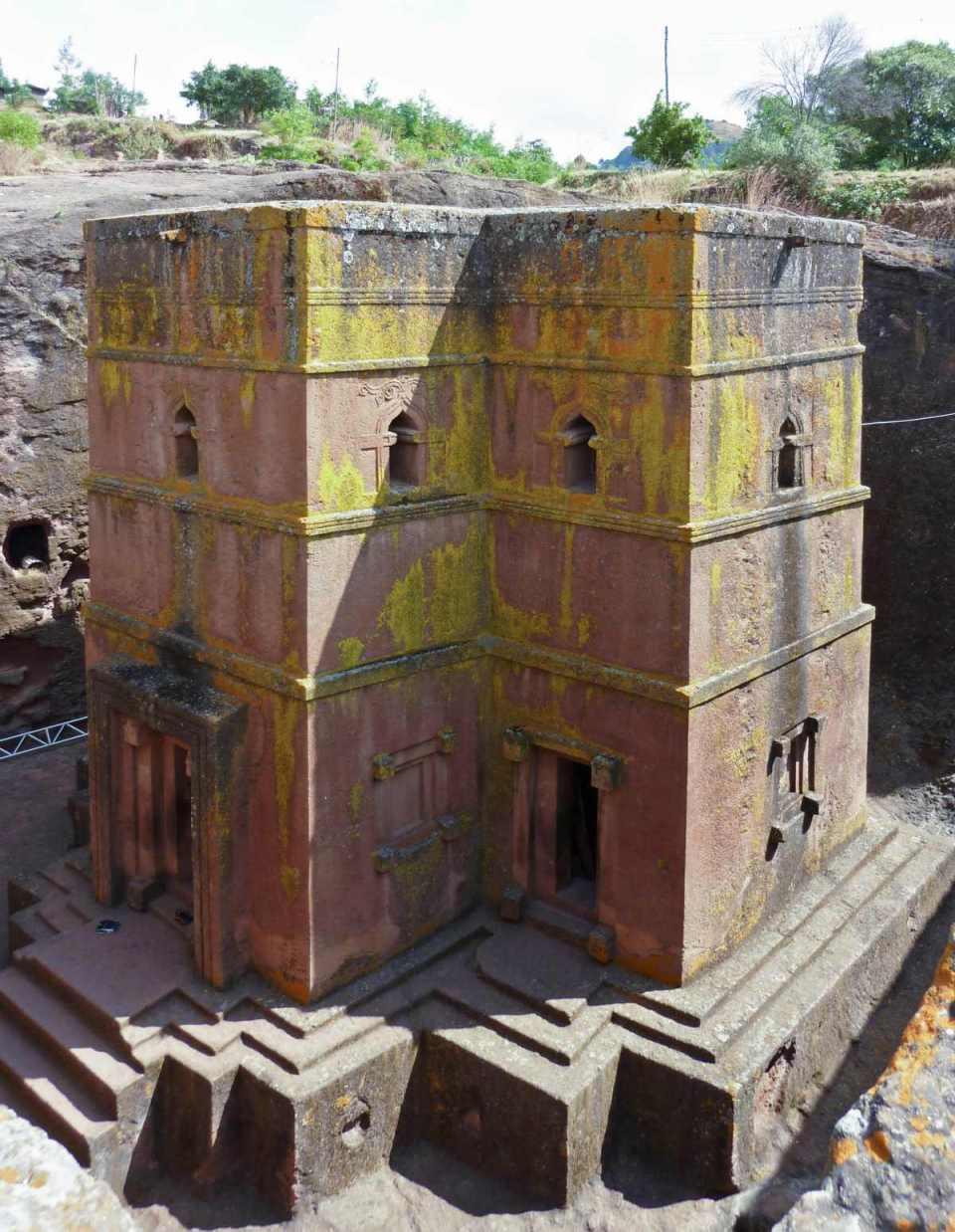 Igreja esculpida em Lalibela