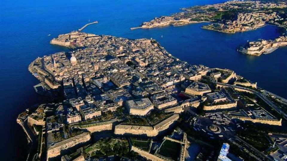 La Valletta-Vista aérea