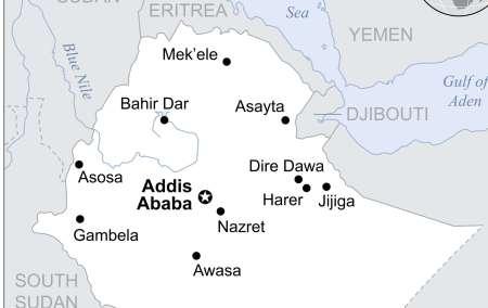 Mapa da Etiópia
