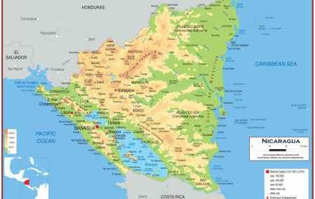 Mapa da Nicarágua