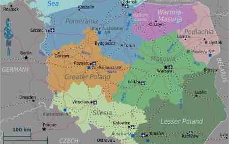 Mapa da Polónia