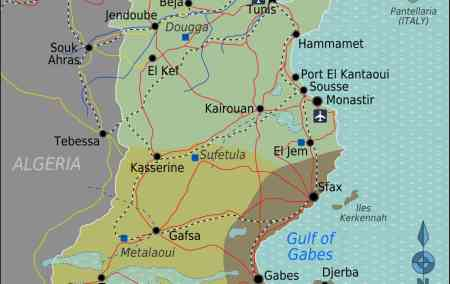 Mapa da Tunisia