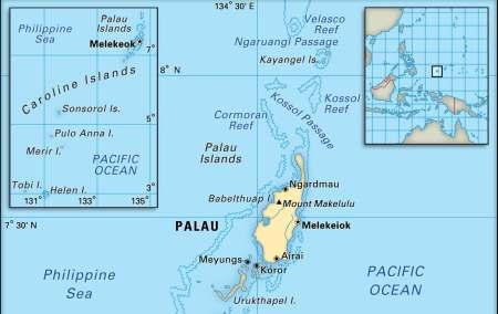 Mapa de Palau