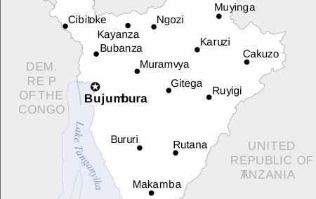 Mapa do Burundi