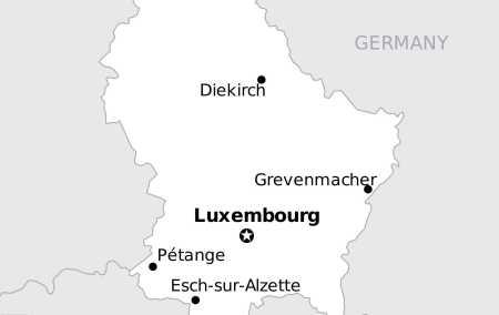 Mapa do Luxemburgo