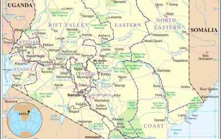 Mapa do Quénia