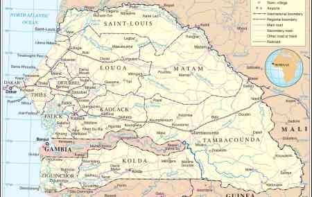 Mapa do Senegal