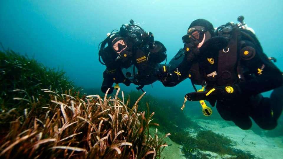 Mergulhadores em Nauru