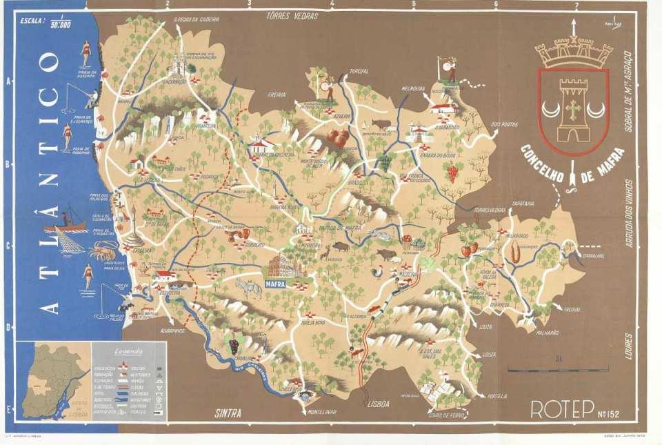 Mapa concelho Mafra