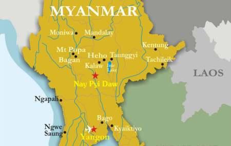 Mapa da Birmânia