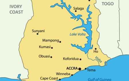 Mapa do Gana
