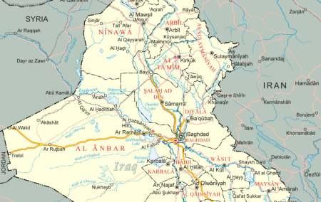 Mapa do Iraque
