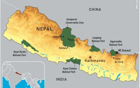 Mapa do Nepal