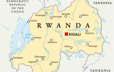 Mapa do Ruanda
