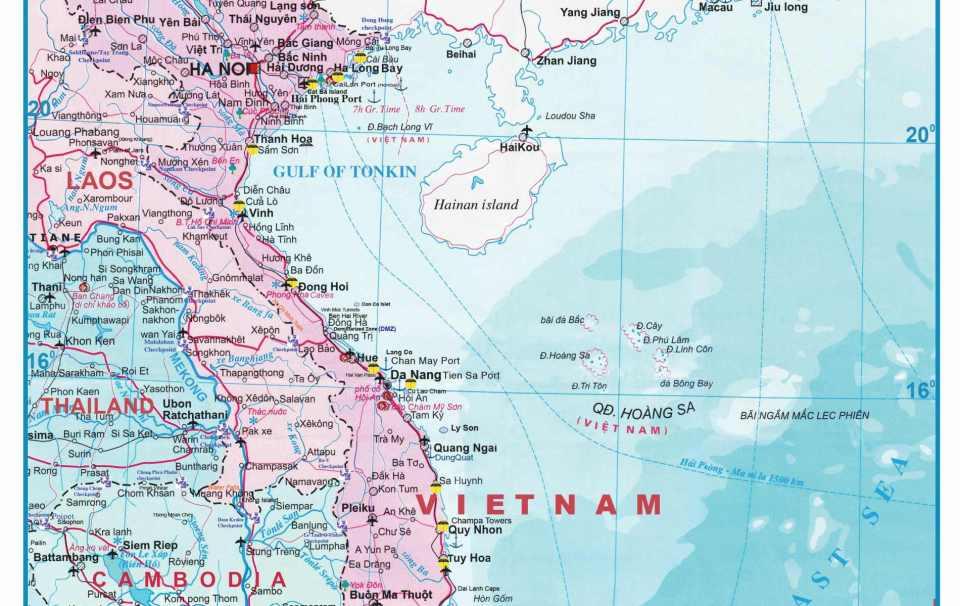 Mapa do Vietname
