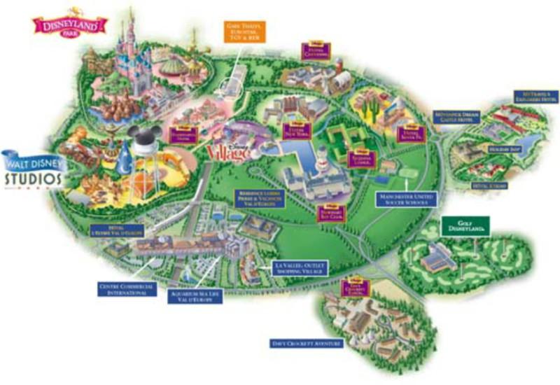 Mapa da Disneyland Paris