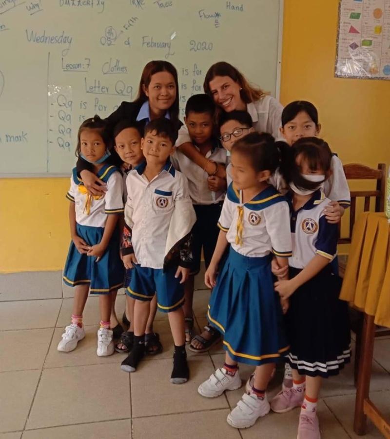 Aventura de coluntariado pelo sudeste asiatico
