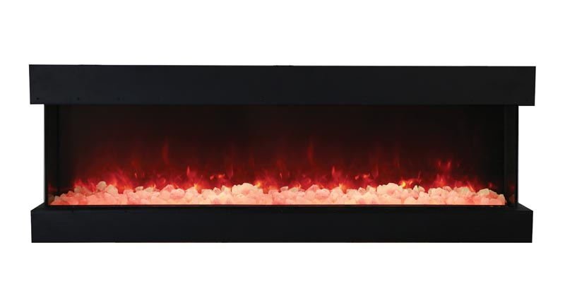 72TRUVIEWXL  3 Sided Electric Fireplace  Amantii Electric Fireplaces