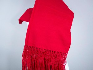 Handmade Mexican Woven red 100% Artisanal Cotton