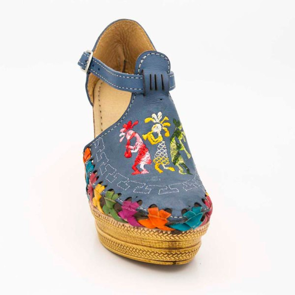 amantli-handmade-mexican-sandal-shoe-high-sole-camelia-blue-front-view-008