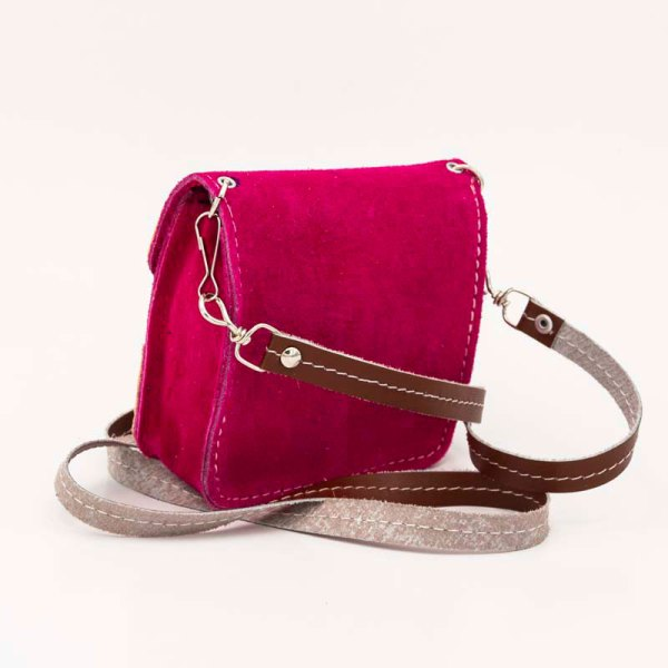 handmade-iris-girls-fuchsia-suede-leather-mexican-handbag-front-view-119
