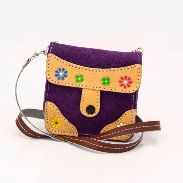 handmade-iris-girls-purple-suede-leather-mexican-handbag-front-view-111