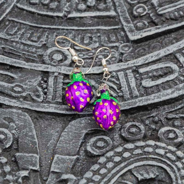 strawberry-hand-blown-glass-purple-earrings-032