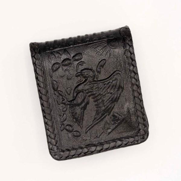 handmade-handtooled-mexican-laced-wallets-aztec-calendar-eagle-068