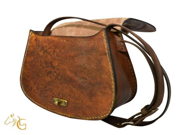 Handmade Hand painted Frida Kahlo Mexican Leather Cow hide purse handbag-108