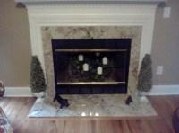Granite Fireplace Update by Amanzi | Amanzi Marble & Granite