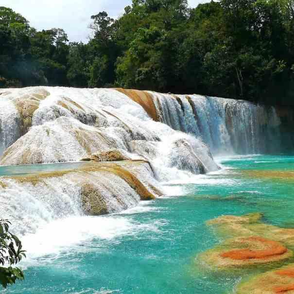 Mexiko Reise Agua Azul Wasserfall