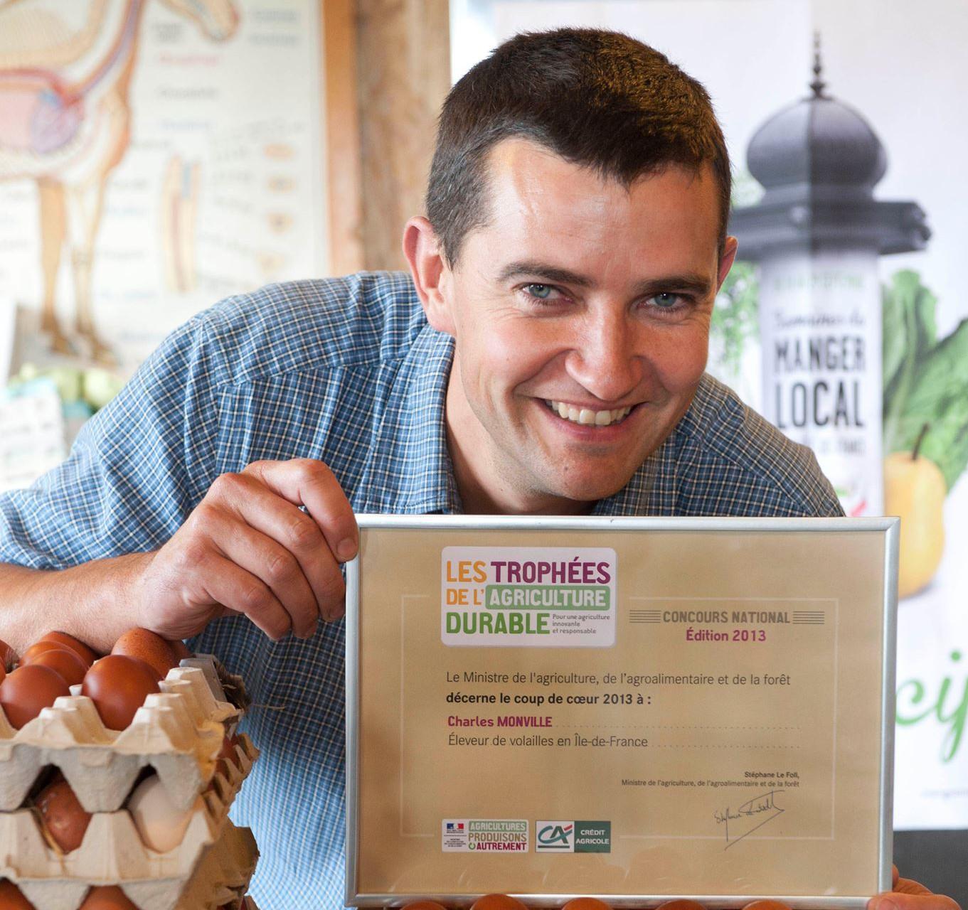 Notre producteur de volailles remporte un trophée de l'agriculture durable