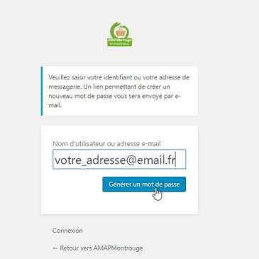 Comment créer ou modifier son mot de passe sur le site de l'AMAP