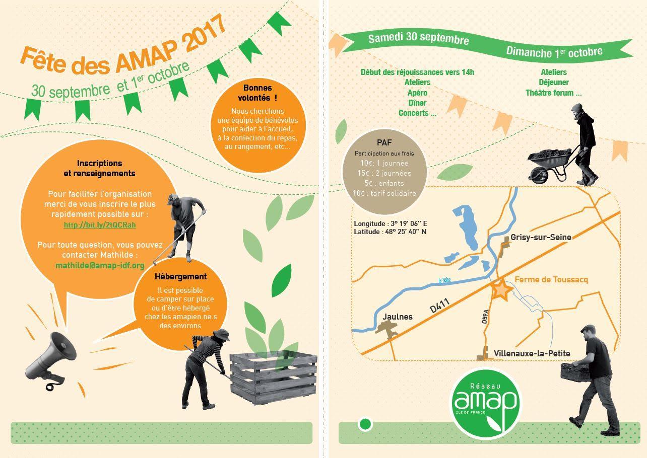 Fête des AMAP les 30 septembre et 1er octobre