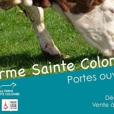 Le ferme Sainte Colombe vous propose de venir voir la ferme en fête samedi 29!