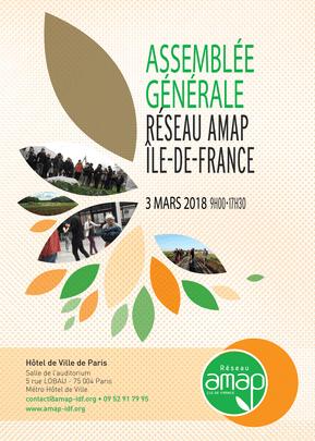 Assemblée Générale des AMAP d'Ile-de-France le 3 mars