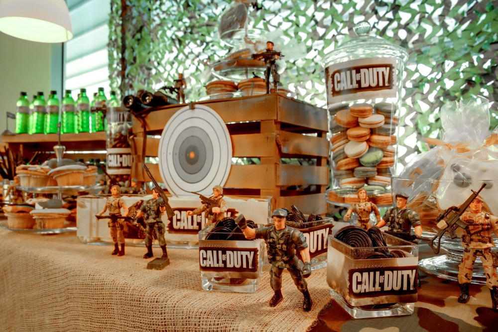Call Of Duty Theme Birthday Party Amapola Exclusive Events