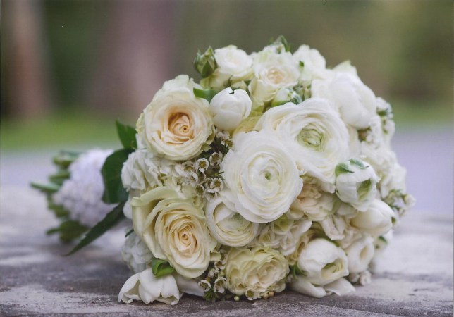 white rose wedding bouquet Amaranth Florist
