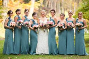 wedding party flowers by Amaranth Florist
