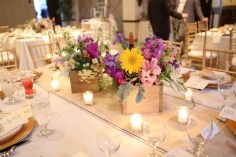 Old Mill Rose Valley, PA Wedding Flowers Reception, Amaranth Wedding Florist