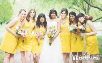 Philadelphia Horticultural Center yelllow bridesmaids