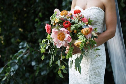 Spring Wedding Bouquet, Pink Amaranth Florist