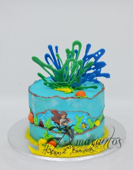 Ariel Birthday Cake AA07 - Amarantos Cakes