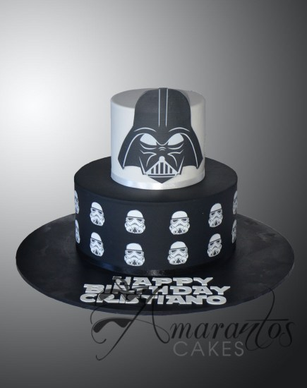 AC136 Two tier Star Wars cake