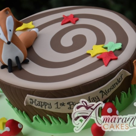 Forest Themed Cake - Amarantos Designer Cakes Melbourne